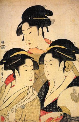Ukiyo-e by Utamaro upload via Wikimedia.org